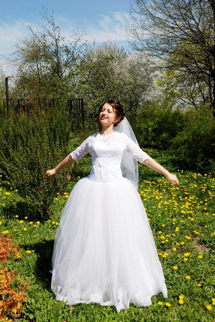 Невеста греется на солнце - Женя Лайт - Фотограф Киев