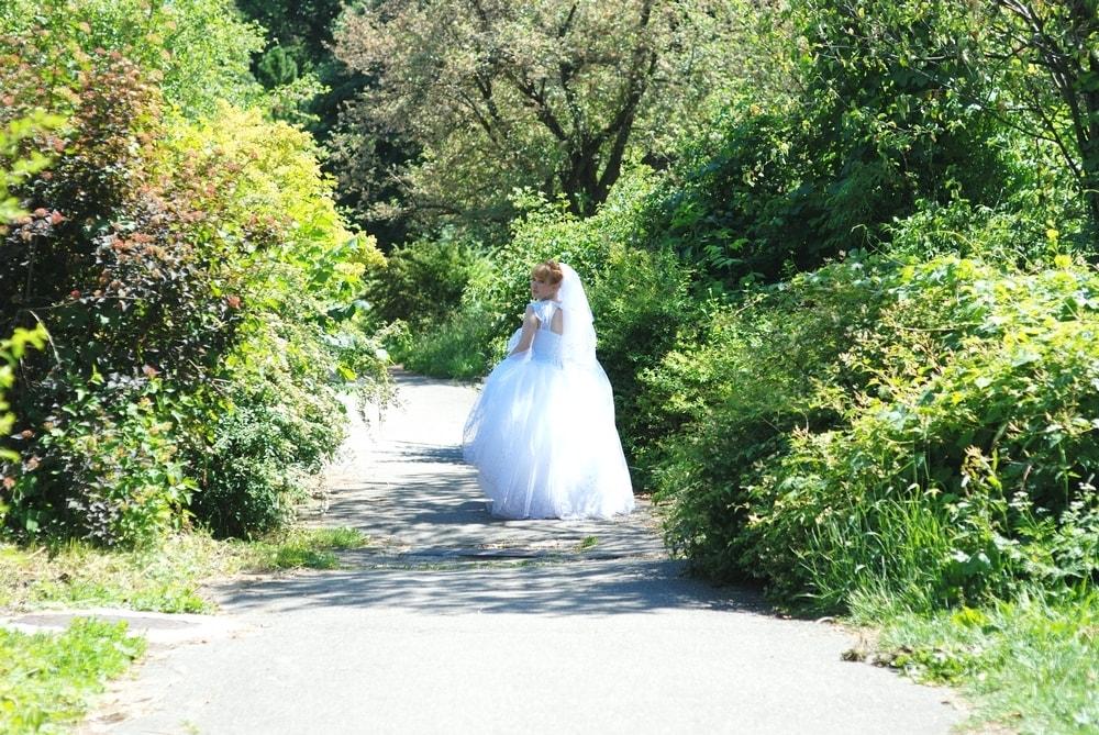 Невеста убегает в лес - Женя Лайт - Фотограф Киев