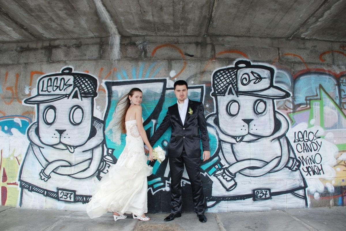 Фото с граффити