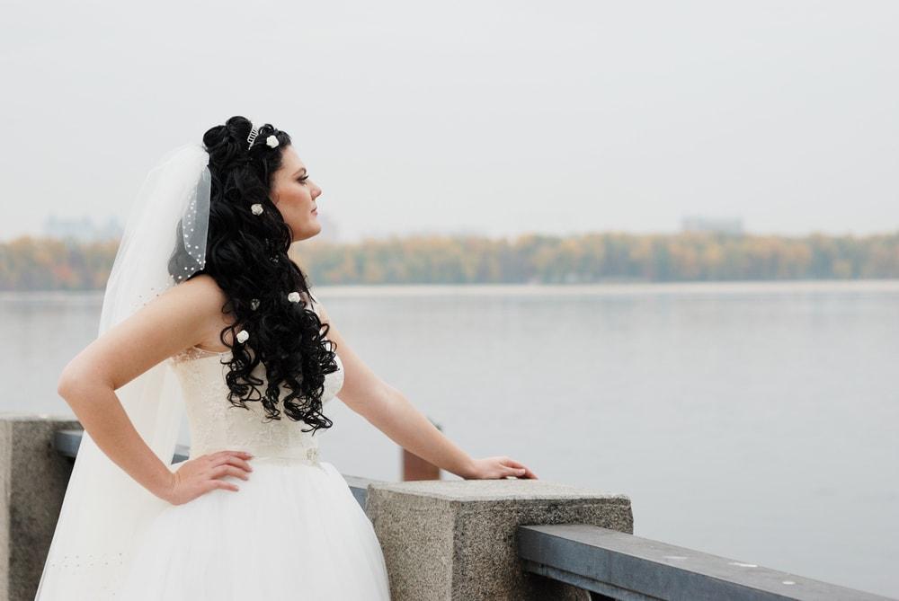 Фотосессия невесты возле Днепра - Женя Лайт - Фотограф Киев