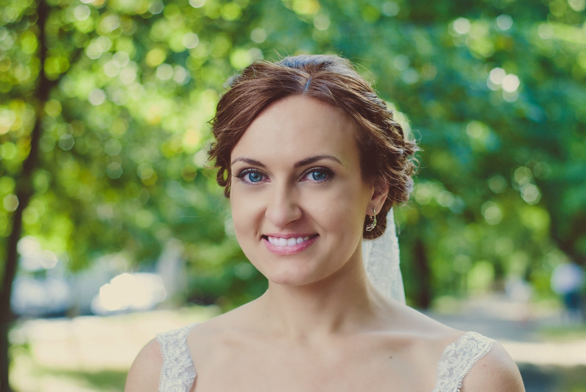 Яркая невеста в парке - Фотограф Киев - Женя Лайт