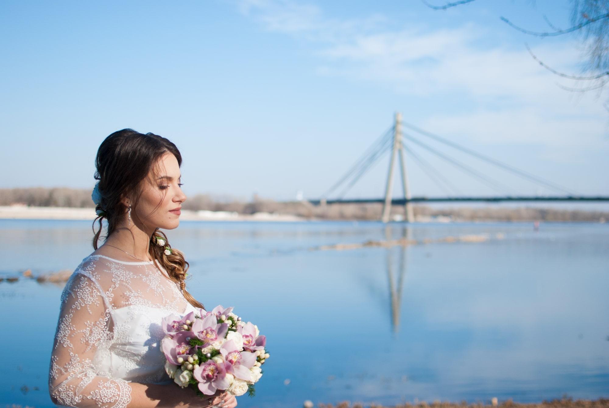 Невеста Катя возле Днепра