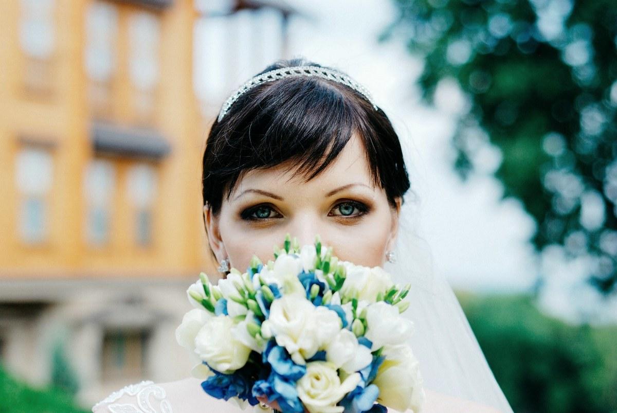 Фотограф Женя Лайт - невеста с голубыми глазами