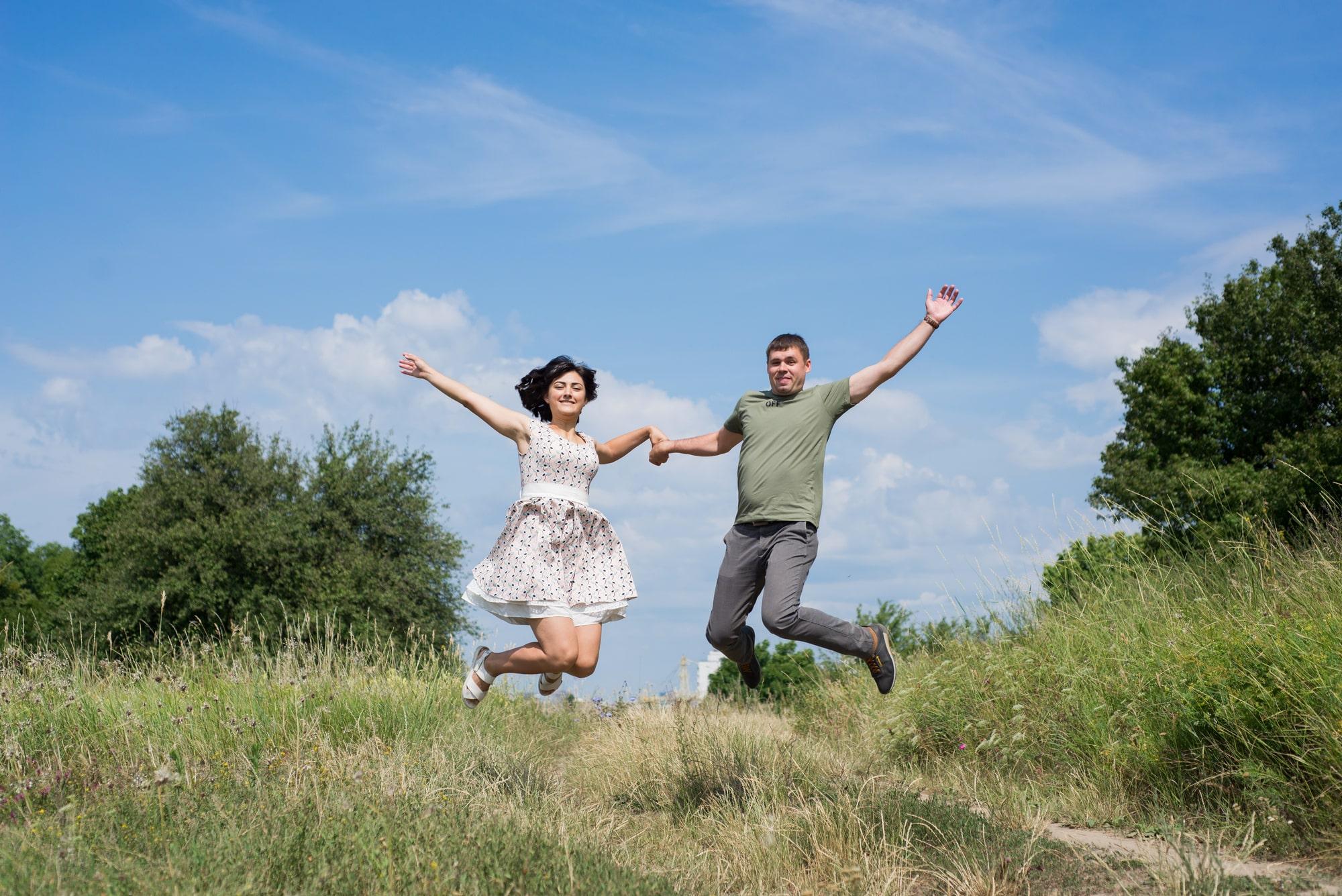 Воздушная фотосессия Love Story в Киеве - Фотограф Женя Лайт