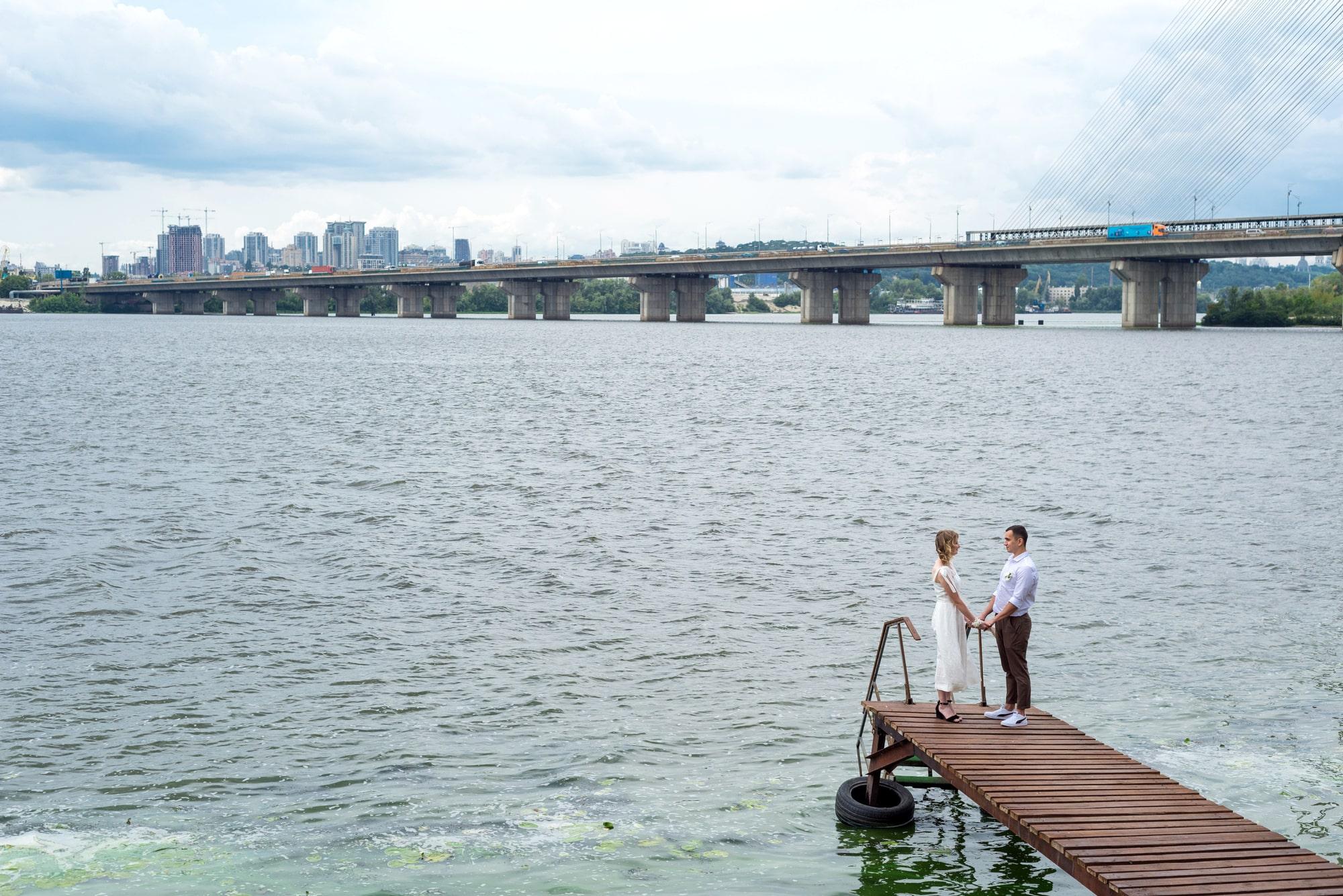 Фотосессия свадебная возле Днепра - фотограф Женя Лайт