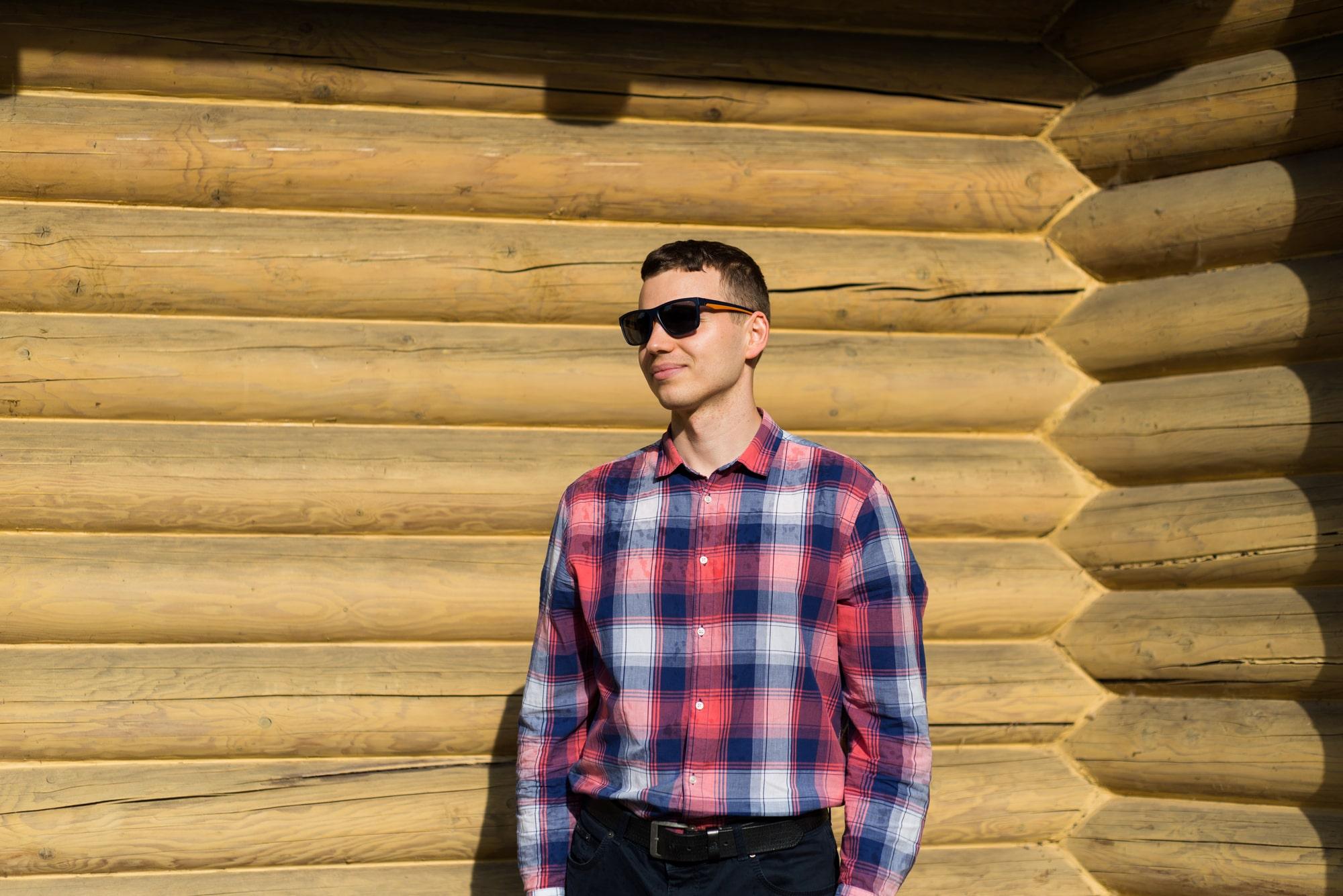 Фотосессия Love Story в Киеве - фотография парня в очках