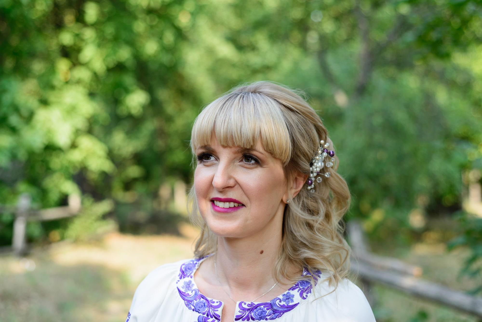 Свадебная фотосессия в Пирогово - невеста в вышиванке