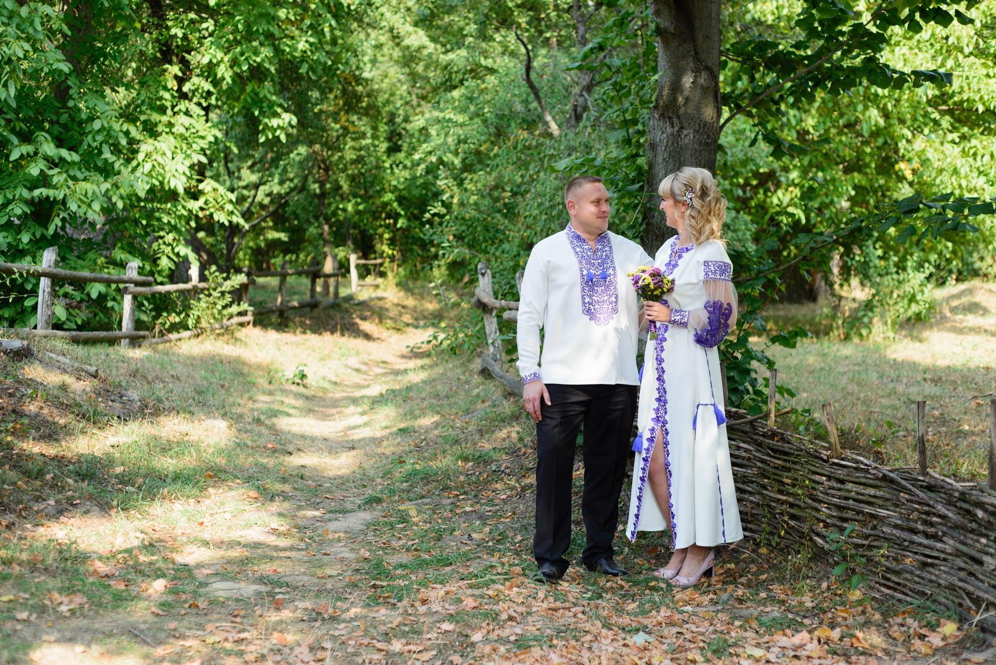 Свадебная фотосессия в Пирогово - невеста и жених