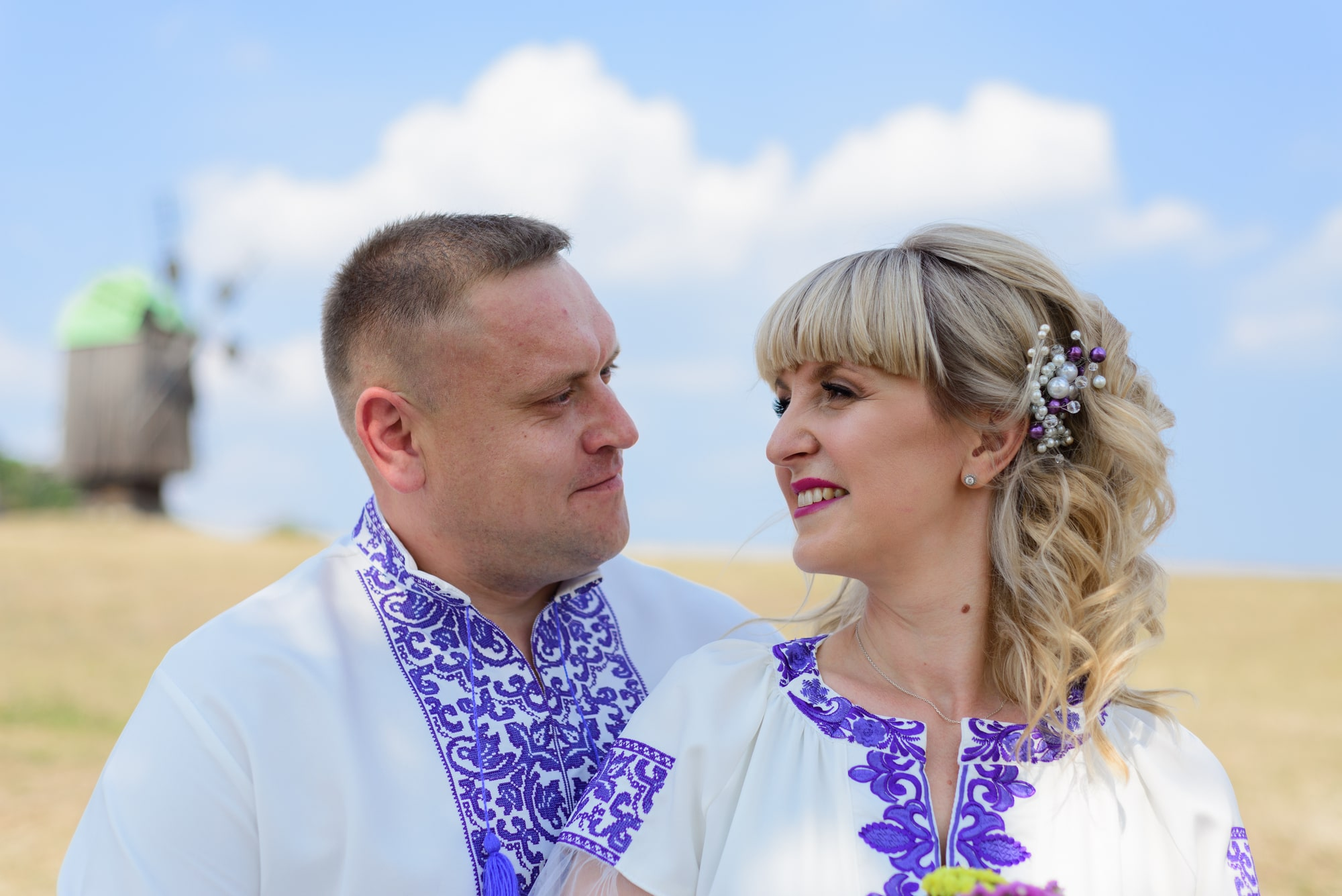 Свадебная фотосессия в Пирогово - национальная украинская свадьба