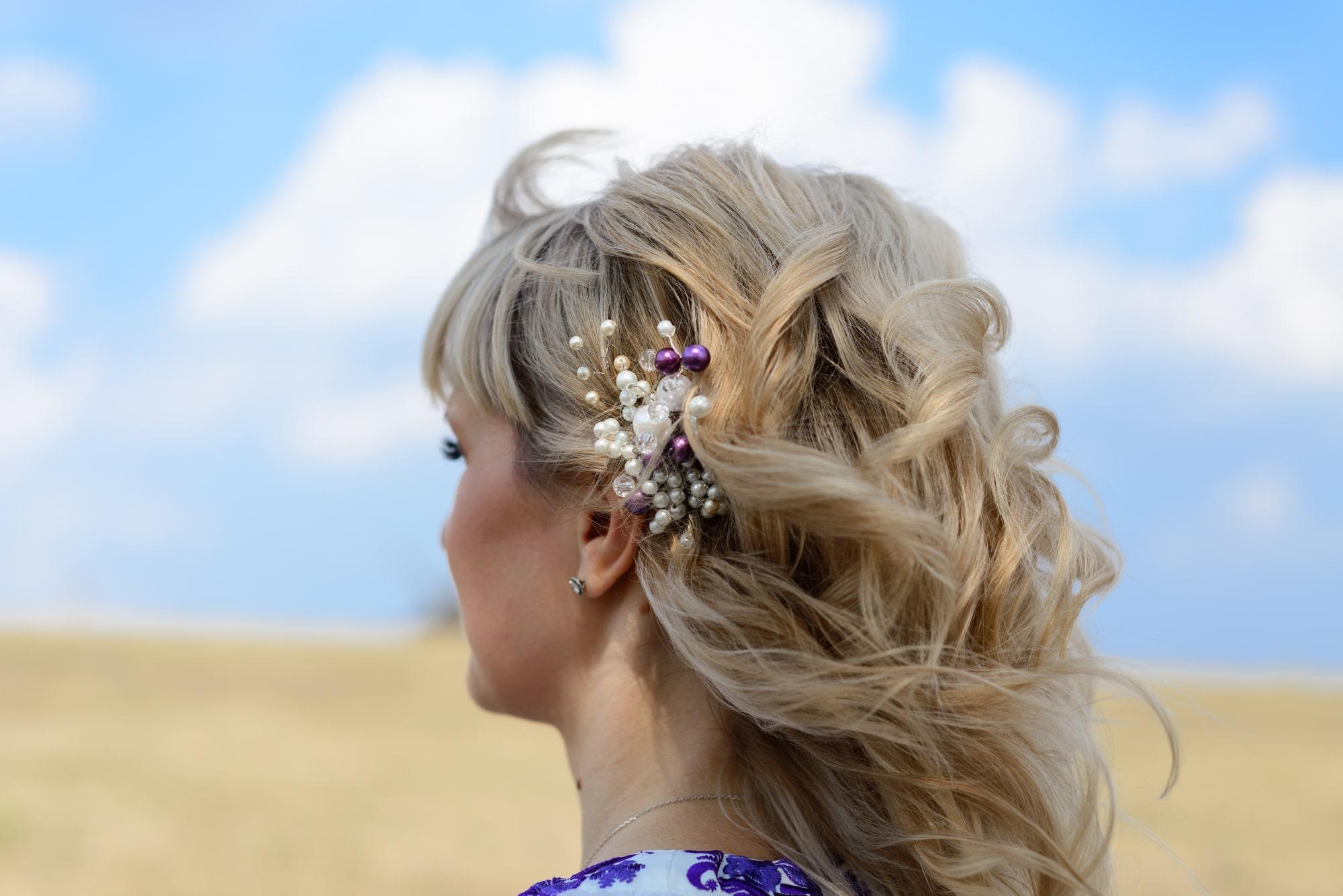 Свадебная фотосессия в Пирогово - прическа невесты