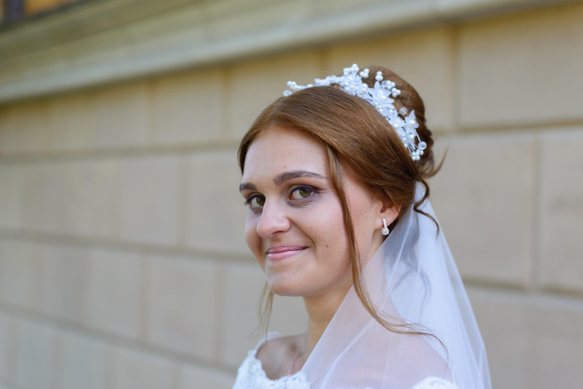 Свадебная фотосъемка в Межигорье - улыбка невесты