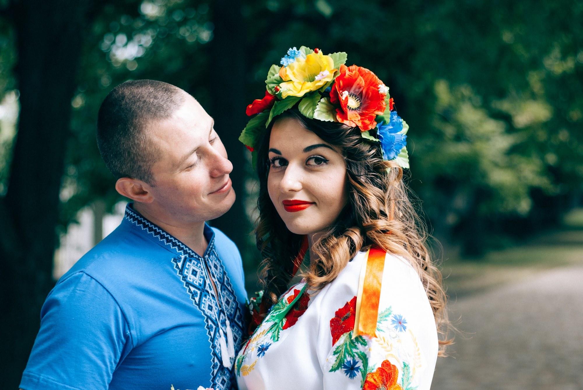 Свидетели в национальных костюмах - Фотограф Киев - Женя Лайт