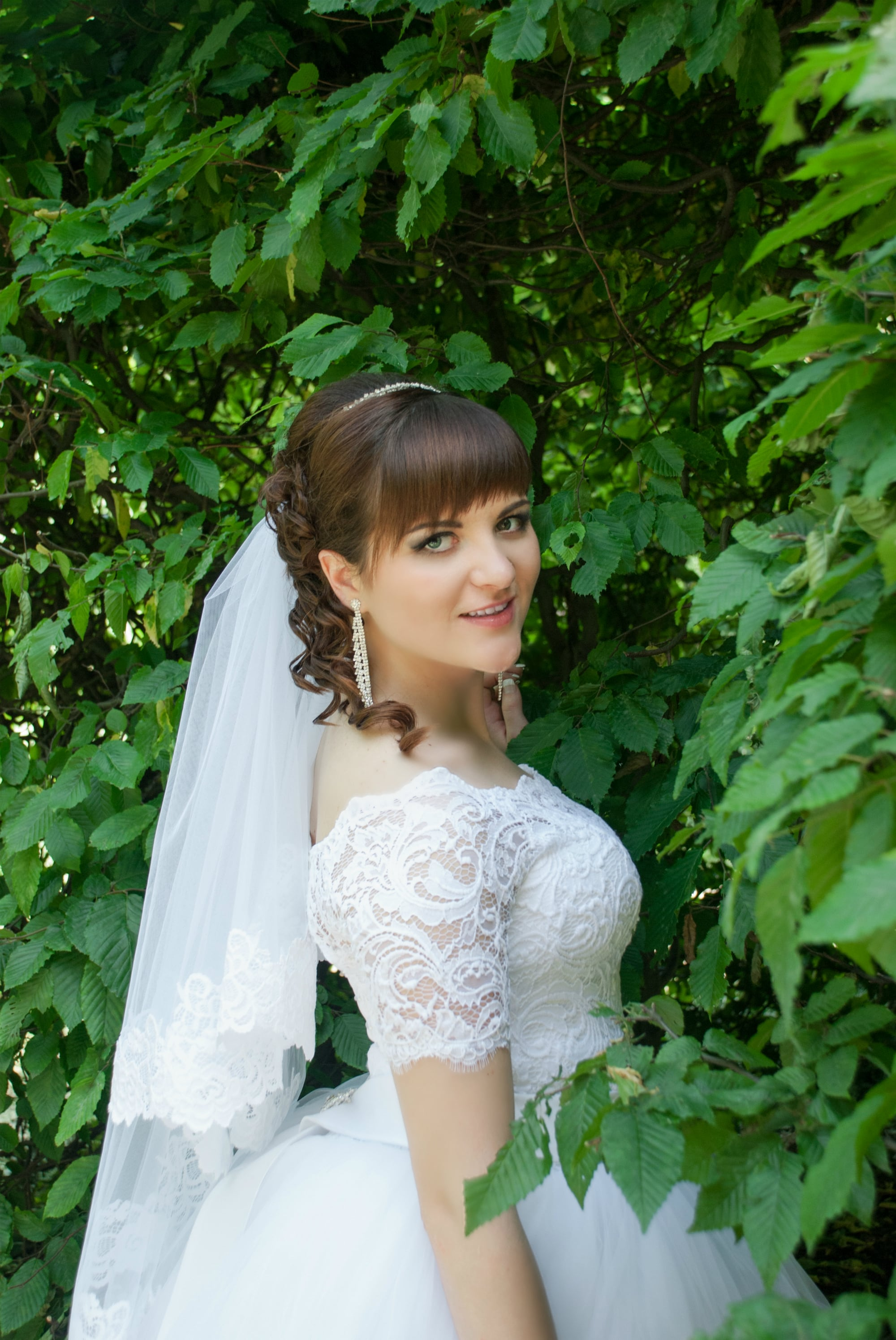 Фото невесты в кустах - Фотограф Киев - Женя Лайт
