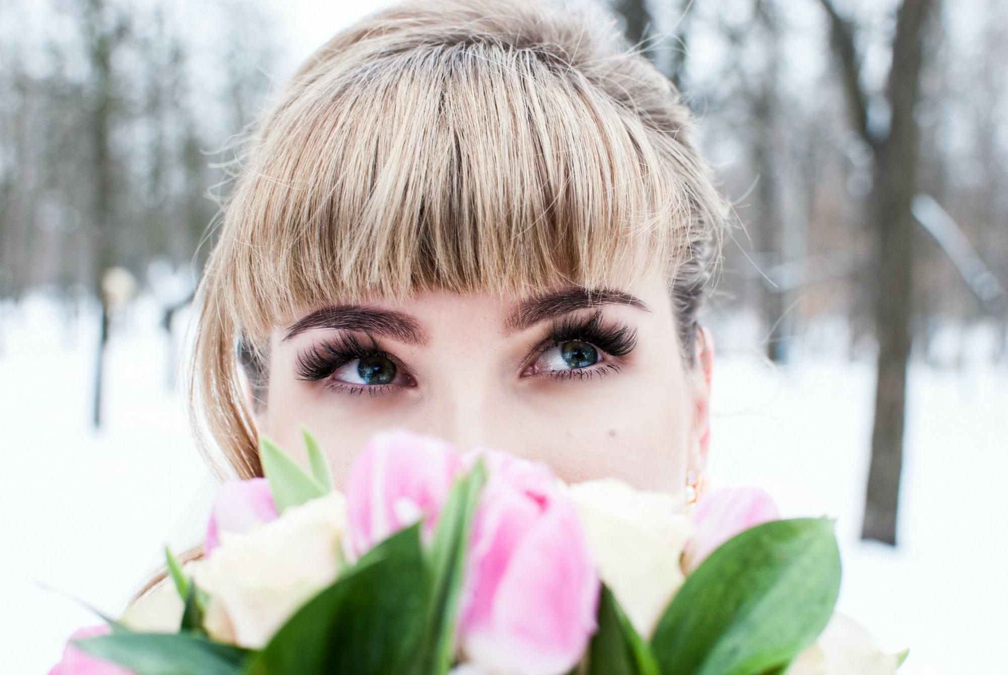 Фотография голубых глаз невесты - Фотограф Киев - Женя Лайт