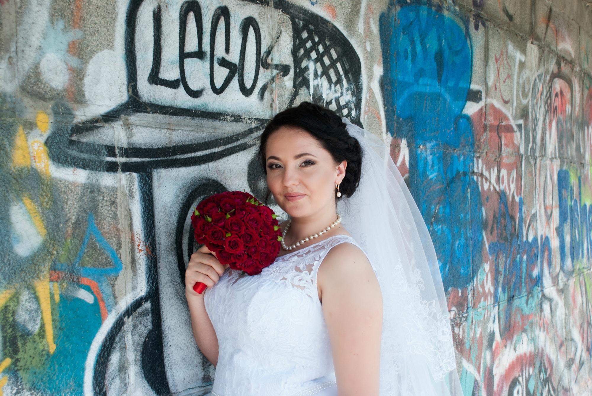 Фотосессия возле стены граффити - Фотограф Киев - Женя Лайт