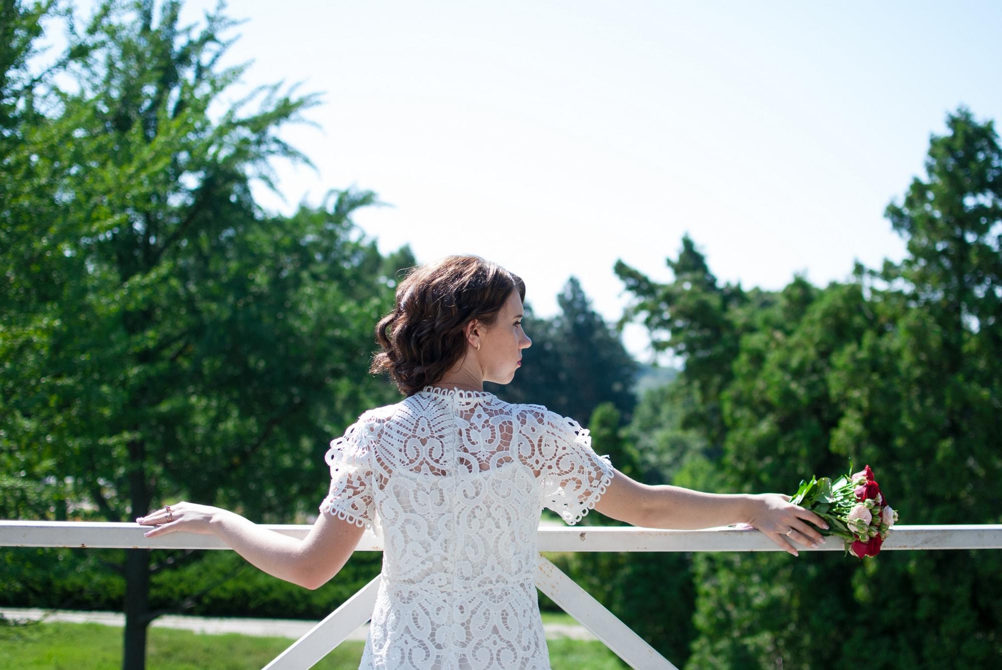 Счастливая невеста в Ботаническом саду