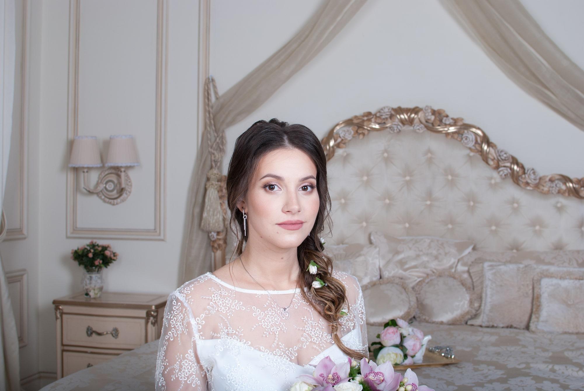 Будуарная свадебная фотосессия