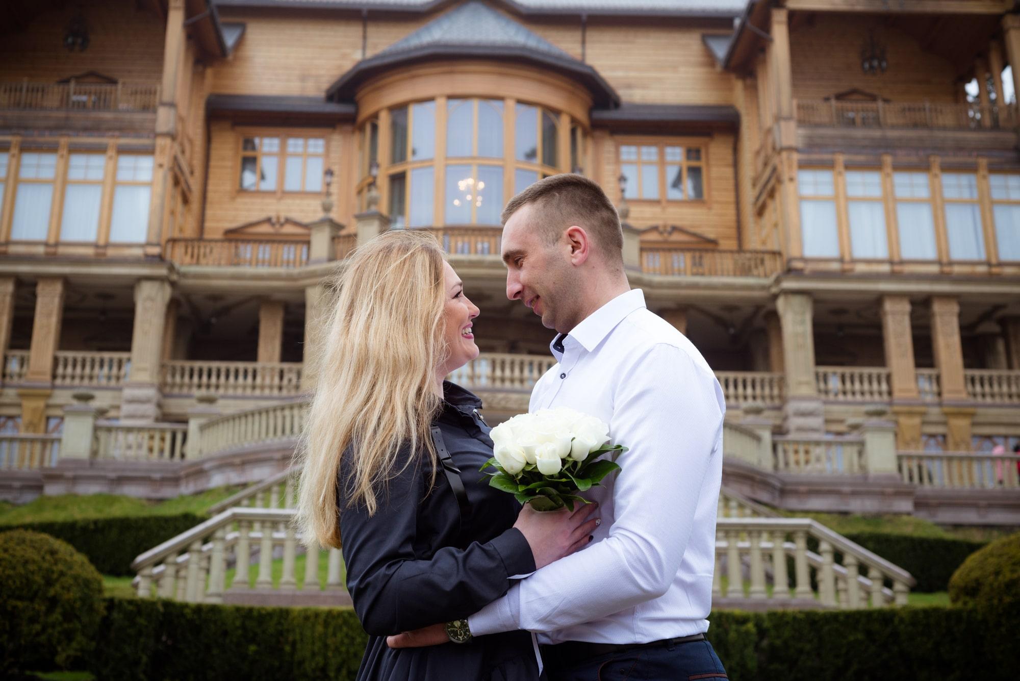 Фотосессия для влюбленных в Межигорье