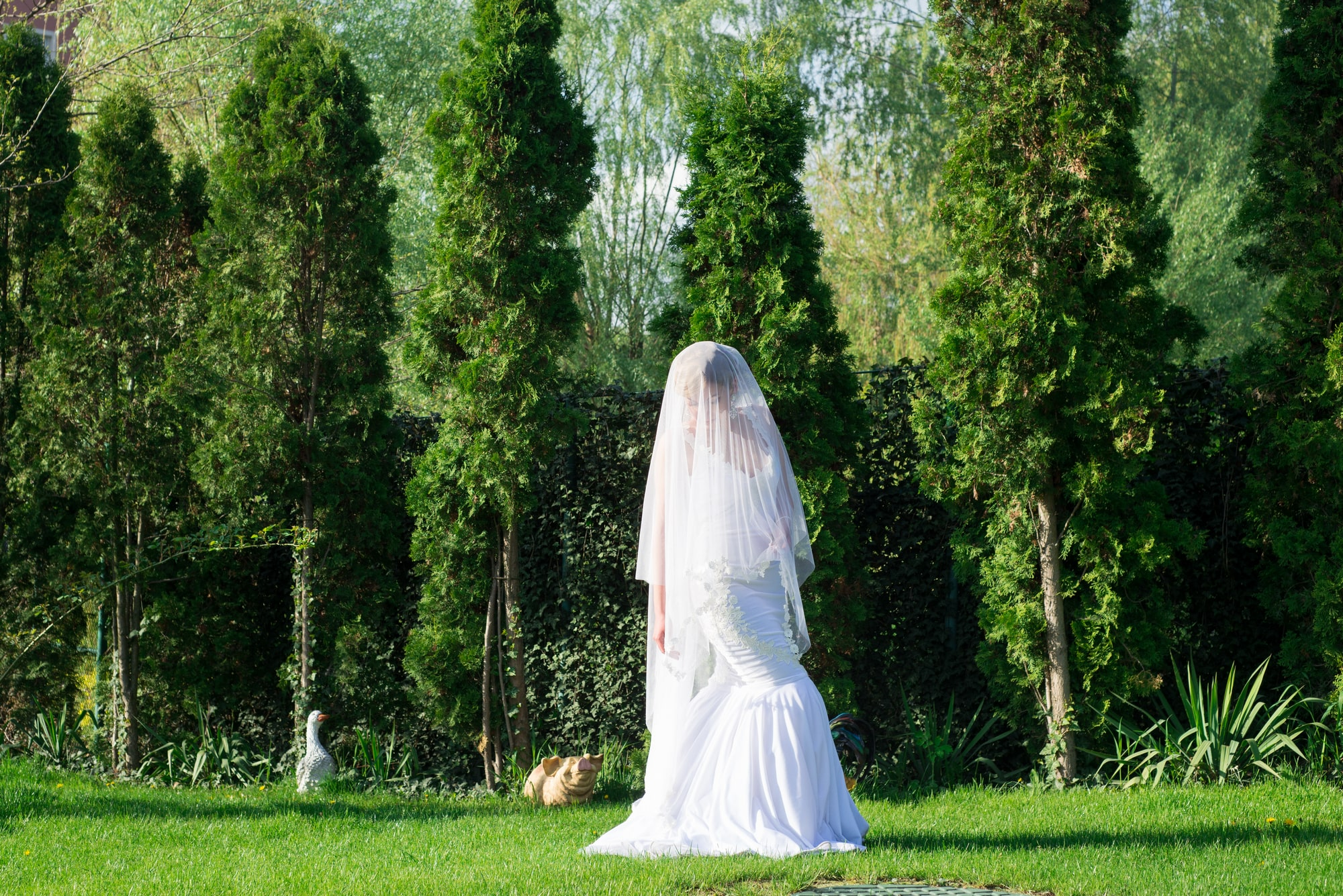 Невеста на лужайке - Фотограф Женя Лайт