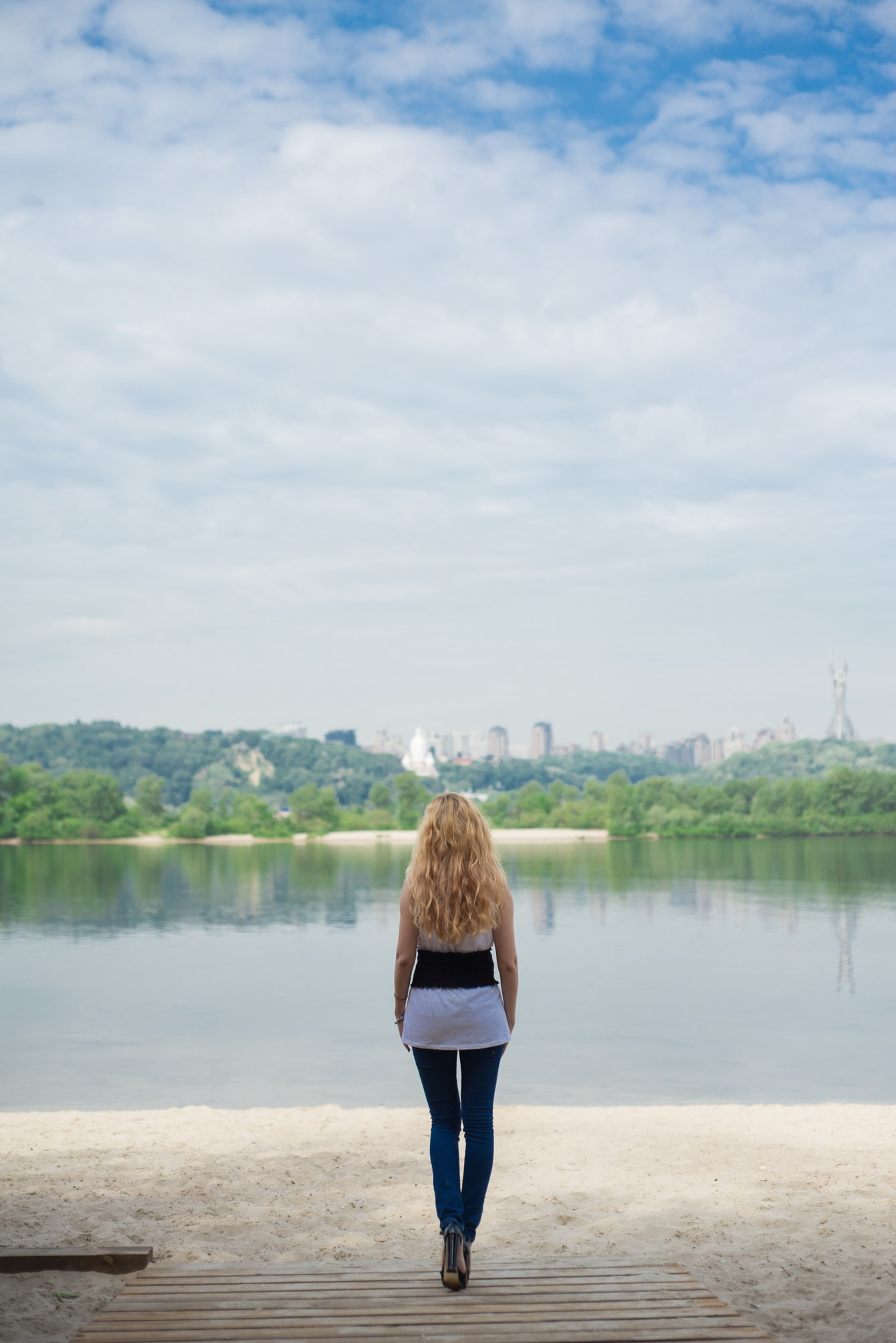 Девушка и Днепр - Фотограф Женя Лайт