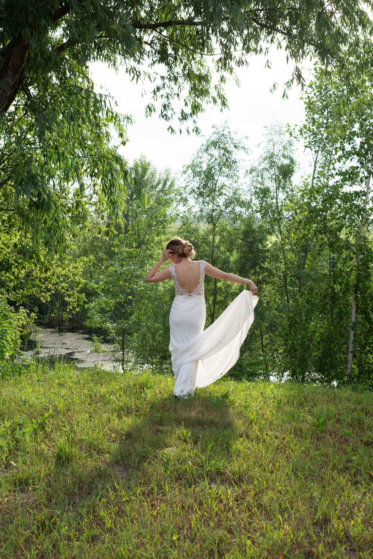 Свадебная фотосессия в Межигорье: На закате