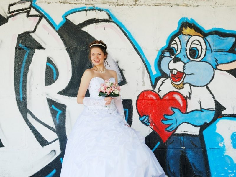 Невеста фотосессия с граффити - Женя Лайт - Фотограф Киев