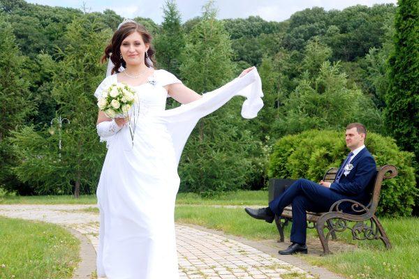 Платье невесты на ветру - Женя Лайт - Фотограф Киев