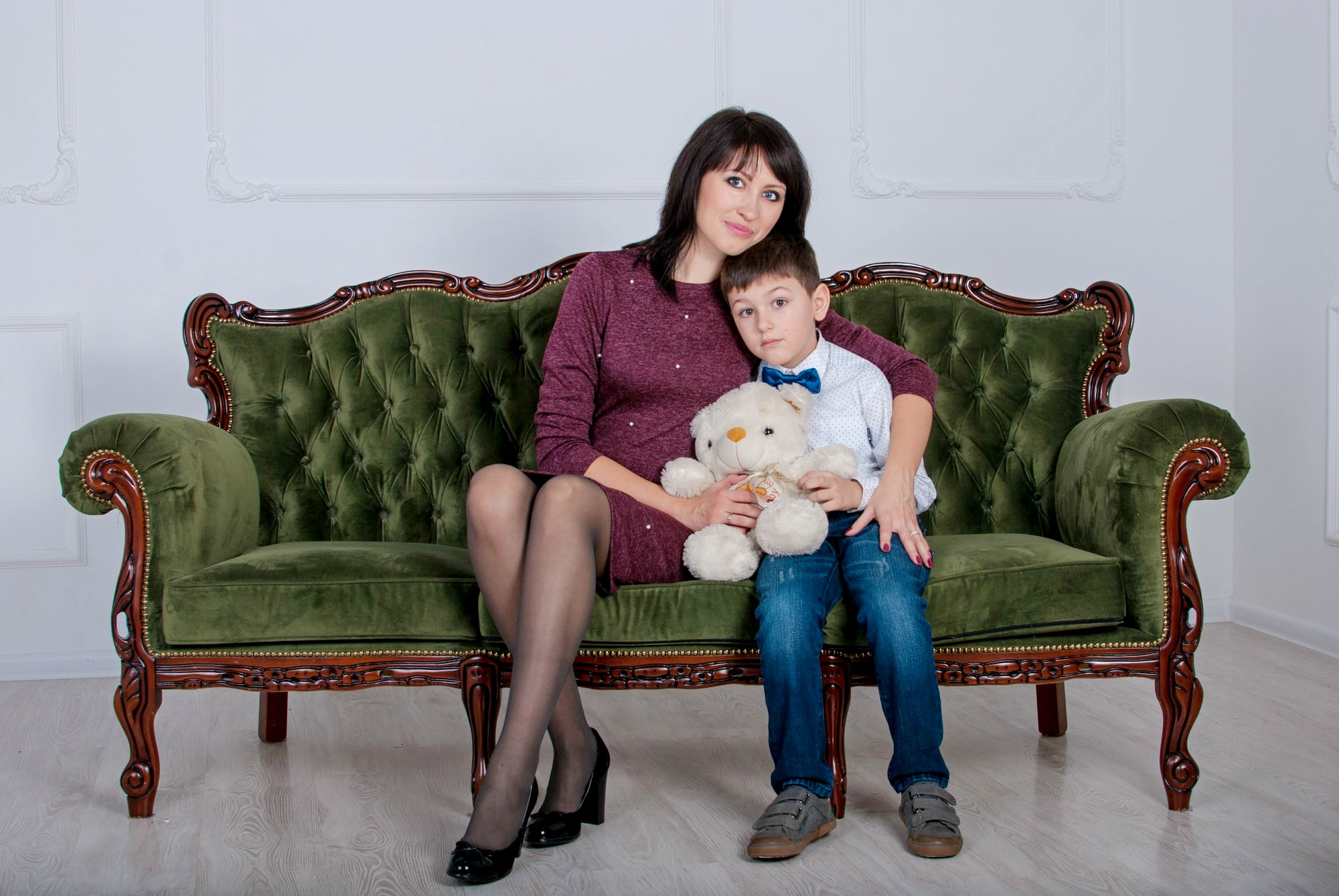 Фотосессия мамы с сыном